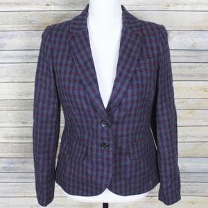 Boden British Tweed by Moon Wool Blazer Size 6